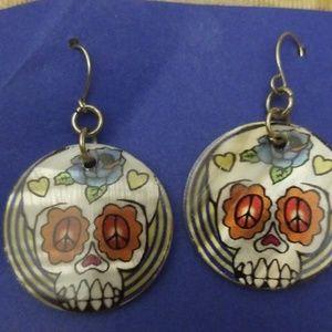 MOP skeleton dangle earrings PM 620